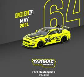 Ford  - Mustang yellow/black - 1:64 - Tarmac - T64G-011-IMSA - TC-T64G011IMSA | The Diecast Company