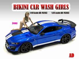 Figures  - Bikini Car Wash Girl *Jenny* 2021  - 1:18 - American Diorama - 76263 - AD76263 | The Diecast Company