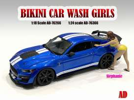 Figures  - Bikini Car Wash Girl, Stephani 2021  - 1:18 - American Diorama - 76266 - AD76266 | The Diecast Company