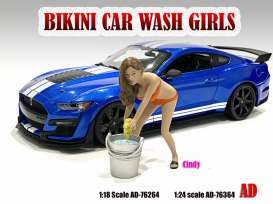 Figures  - Bikini Car Wash Girl *Cindy* 2021  - 1:24 - American Diorama - 76364 - AD76364 | The Diecast Company
