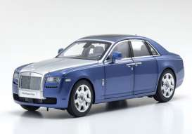 Rolls Royce  - Ghost SWB blue/grey - 1:18 - Kyosho - 8802MBS - kyo8802MBS | The Diecast Company