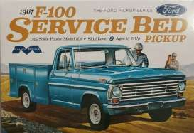 Ford  - F100 Service Bed pick-up 1966  - 1:25 - Moebius - 1239 - moes1239 | The Diecast Company