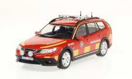 Saab  - 9-3X *Ledningsbil* 2009 red/yellow - 1:43 - Triple9 Collection - 43077 - T9-43077 | The Diecast Company