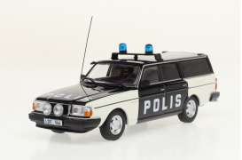 Volvo  - 245 *Polis* 1983 white/black - 1:43 - Triple9 Collection - 43079 - T9-43079 | The Diecast Company