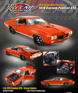 Pontiac  - GTO custom 1970 orange - 1:18 - Acme Diecast - 1801214NC - acme1801214NC | The Diecast Company