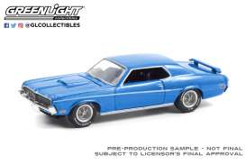 Mercury  - Cougar 1969 blue - 1:64 - GreenLight - 13300B - gl13300B | The Diecast Company
