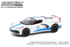 Chevrolet  - Corvette C8 2020 white/blue - 1:64 - GreenLight - 13300E - gl13300E | The Diecast Company