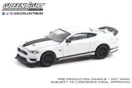 Ford  - Mustang Mach 1 2020 white - 1:64 - GreenLight - 13300F - gl13300F | The Diecast Company