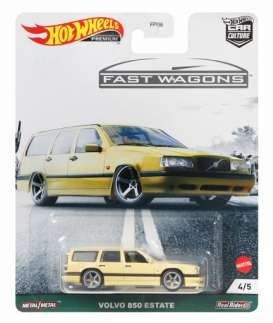 Volvo  - 850 Estate yellow - 1:64 - Hotwheels - GRJ67 - hwmvGRJ67 | The Diecast Company