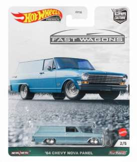 Chevrolet  - Nova Panel 1964 silver-blue - 1:64 - Hotwheels - hwmvNovaPanel | The Diecast Company