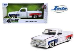 Chevrolet  - C10 pick-up 1985 white/red/blue - 1:24 - Jada Toys - 32684 - jada32684 | The Diecast Company