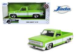 Chevrolet  - C10 pick-up 1985 green/white - 1:24 - Jada Toys - 31686 - jada31686 | The Diecast Company