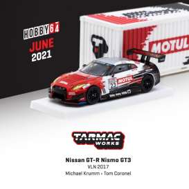 Nissan  - GT-R Nismo 2017 red/white/black - 1:64 - Tarmac - T64-035-17VLN23 - TC-T64-03517VLN23 | The Diecast Company