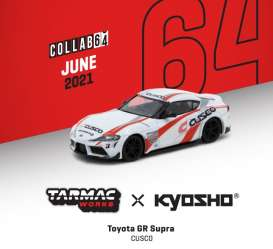 Toyota  - GR Supra white/red - 1:64 - Tarmac - T64K002CUS - TC-T64K002CUS | The Diecast Company