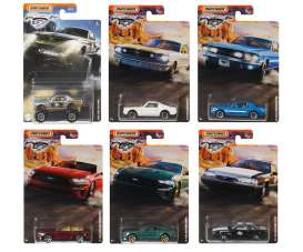 Ford  - Mustang assortment various - 1:64 - Matchbox - GGF12 - MBGGF12-956B | The Diecast Company