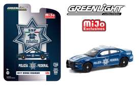 Dodge  - Charger *SSP* 2017 blue/white - 1:64 - GreenLight - 51381 - gl51381 | The Diecast Company