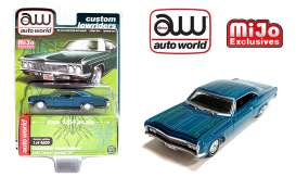 Chevrolet  - Impala SS *Lowrider* 1966 blue/green - 1:64 - Auto World - CP7740 - AWCP7740 | The Diecast Company