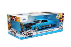 Plymouth  - Road Runner *Looney Tunes* 1970 blue/black - 1:24 - Jada Toys - 32038 - jada32038 | The Diecast Company