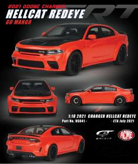 Dodge  - Charger Hellcat Redeye 2021 orange/black - 1:18 - Acme Diecast - US041 - GTUS041 | The Diecast Company
