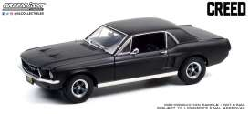 Ford  - Mustang 1967 matte black - 1:18 - GreenLight - 13611 - gl13611 | The Diecast Company