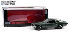 Ford  - Mustang GT 1968 green - 1:18 - GreenLight - 13615 - gl13615 | The Diecast Company