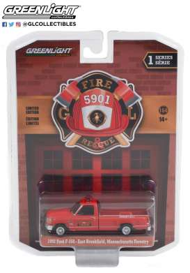 Ford  - F-350 1992 red - 1:64 - GreenLight - 67010B - gl67010B | The Diecast Company