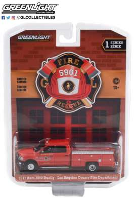 Ram  - 3500 Dually 2017 red - 1:64 - GreenLight - 67010E - gl67010E | The Diecast Company