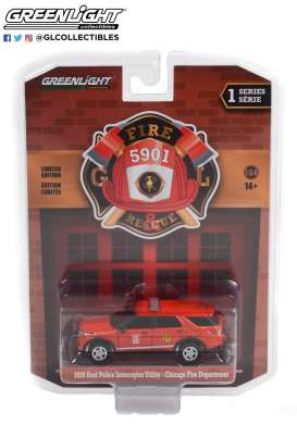Ford  - Interceptor 2020 red - 1:64 - GreenLight - 67010F - gl67010F | The Diecast Company