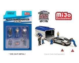 Figures  - Auto Transporter set.  - 1:64 - American Diorama - 76464 - AD76464 | The Diecast Company