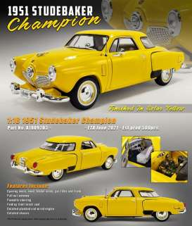 Studebaker  - Champion 1951 solar yellow - 1:18 - Acme Diecast - 1809203 - acme1809203 | The Diecast Company
