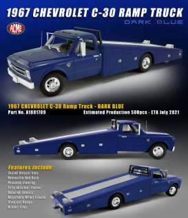 Chevrolet  - C-30 Ramp Truck 1967 dark blue - 1:18 - Acme Diecast - 1801709 - acme1801709 | The Diecast Company