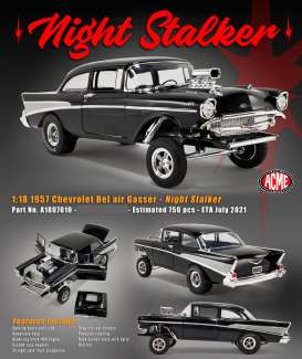 Chevrolet  - Bel Air Gasser 1957 black - 1:18 - Acme Diecast - 1807010 - acme1807010 | The Diecast Company