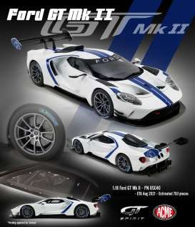 Ford  - GT MKII white/blue - 1:18 - Acme Diecast - US040 - GTUS040 | The Diecast Company