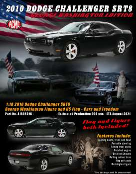 Dodge  - Challenger SRT 2010 black - 1:18 - Acme Diecast - 1806016 - acme1806016 | The Diecast Company