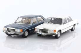 Mercedes Benz  - SEL 1975 blue - 1:18 - iScale - 18084 - iscale18084 | The Diecast Company