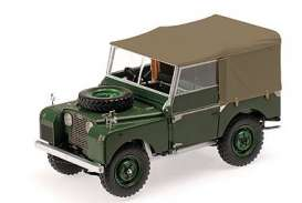 Land Rover  - 1948 green - 1:18 - Minichamps - 150168912 - mc150168912 | The Diecast Company