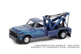 Chevrolet  - C-30 1969 blue/black - 1:64 - GreenLight - 46080A - gl46080A | The Diecast Company