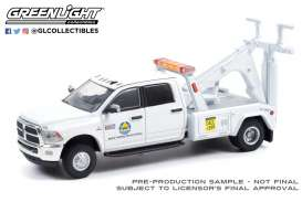 Ram  - 3500 Dually 2018 white - 1:64 - GreenLight - 46080F - gl46080F | The Diecast Company
