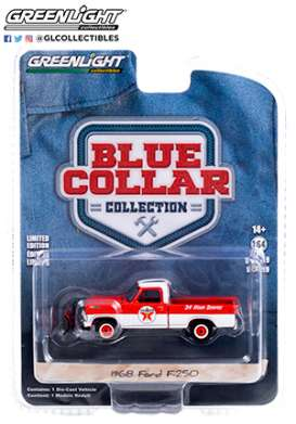 Ford  - F-350 1968 red/white - 1:64 - GreenLight - 35200A - gl35200A | The Diecast Company