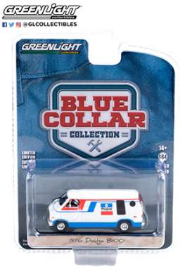 Dodge  - B-100 1976 white/blue/red - 1:64 - GreenLight - 35200C - gl35200C | The Diecast Company