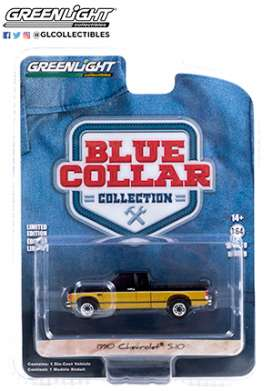 Chevrolet  - S10 1990 black/gold - 1:64 - GreenLight - 35200E - gl35200E | The Diecast Company
