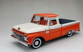Ford  - F-100 pick-up 1965 red/white - 1:18 - SunStar - 1301 - sun1301 | The Diecast Company