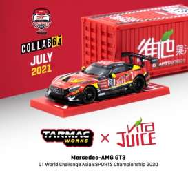Mercedes Benz  - AMG GT3 2020 red/black/yellow - 1:64 - Tarmac - T64-008-JUICE - TC-T64-008JUICE | The Diecast Company