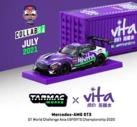 Mercedes Benz  - AMG GT3 2020 purple/white - 1:64 - Tarmac - T64-008-WATER - TC-T64-008WATER | The Diecast Company