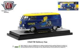 Volkswagen  - Delivery 1960 blue/yellow - 1:24 - M2 Machines - 40300-82 - M2-40300-82B | The Diecast Company