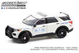Ford  - Interceptor 2020 white - 1:64 - GreenLight - 30295 - gl30295 | The Diecast Company