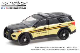 Ford  - Interceptor 2020 black/yellow - 1:64 - GreenLight - 30296 - gl30296 | The Diecast Company