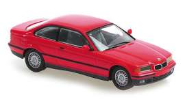 BMW  - 3-series 1992 red - 1:43 - Maxichamps - 940023320 - mc940023320 | The Diecast Company