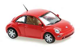 Volkswagen  - New Beetle 1998 red - 1:43 - Maxichamps - 940058001 - mc940058001 | The Diecast Company
