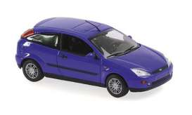 Ford  - Focus 2-door 1998 blue metallic - 1:43 - Maxichamps - 940087000 - mc940087000 | The Diecast Company